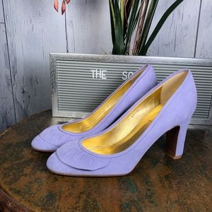 J.Crew Made in Italy Lavender Suede Leather Pumps